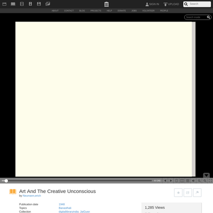 Art And The Creative Unconscious : Neumann,erich : Free Download, Borrow, and Streaming : Internet Archive