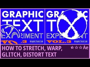 How to Stretch, Warp, Glitch, Distort Text (3) | Kinetic Typography | Lens Distort | AfterEffects