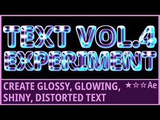 How to Make Glossy, Glowing, Shiny, Distort Text | Kinetic Typography | CC Glass | AfterEffects
