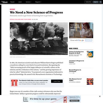 We Need a New Science of Progress - The Atlantic
