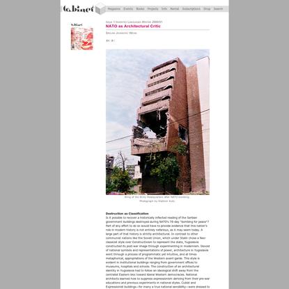 NATO as Architectural Critic
