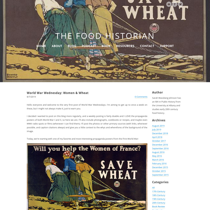 World War Wednesday: Women & Wheat