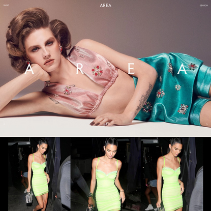 AREA - NEW GLAMOUR IN NEW YORK CITY. DESIGNER COLLECTION
