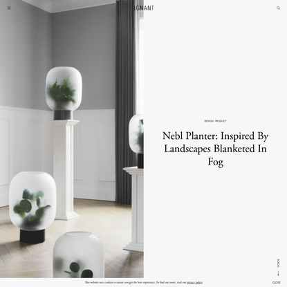 Nebl Planter: Inspired By Landscapes Blanketed In Fog - IGNANT
