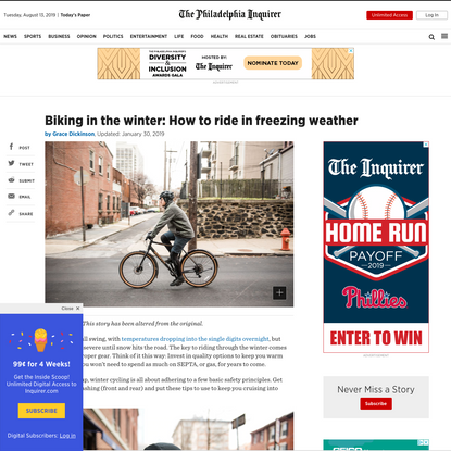 Biking in the winter: How to ride in freezing weather