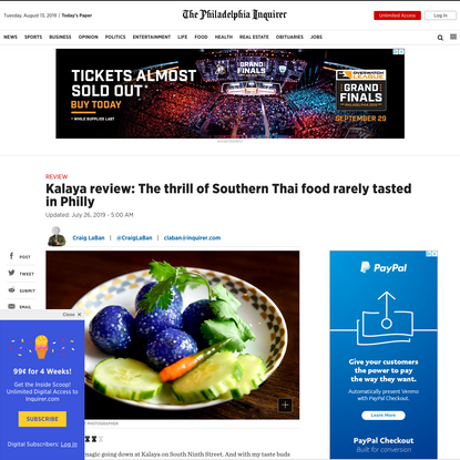 Kalaya review: The thrill of Southern Thai food rarely tasted in Philly
