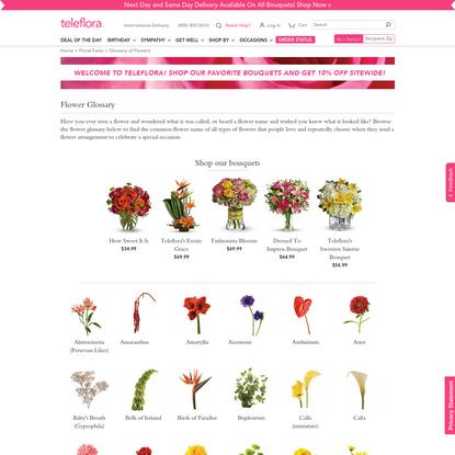 Flower Glossary