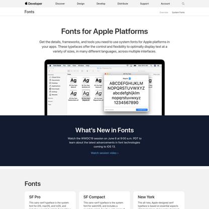 Fonts - Apple Developer