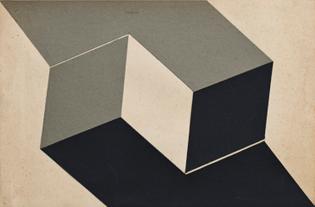 Lygia Clark, Estudo para Planos em superficie modulada [Study for plans in modulated surface], 1957