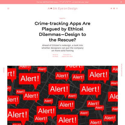 Crime-tracking Apps Are Plagued by Ethical Dilemmas-Design to the Rescue?