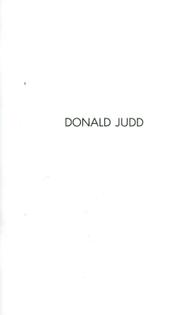 Donald Judd - Margo Leavin Gallery