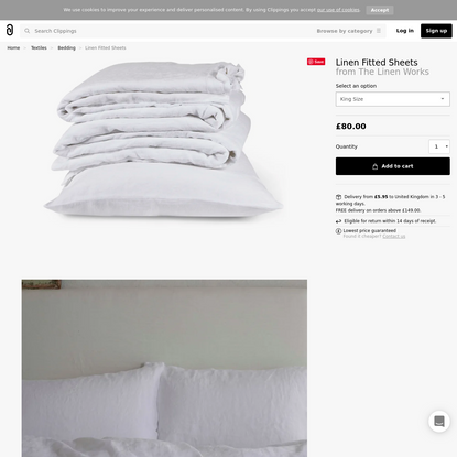 Linen Fitted Sheets Single by The Linen Works