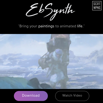 EbSynth brings art to life with 2D motion capture