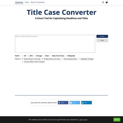 Title Case Converter - A Smart Title Capitalization Tool