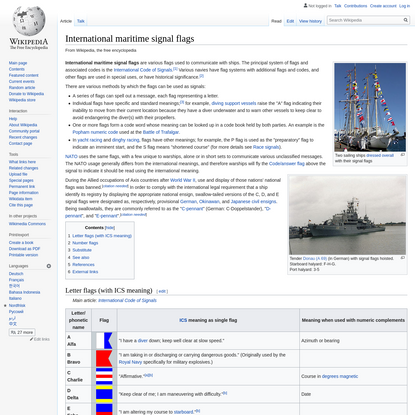 International maritime signal flags