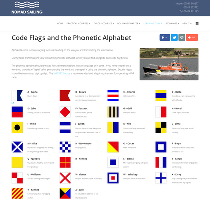 Code Flags and the Phonetic Alphabet