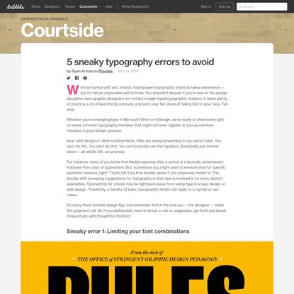 5 sneaky typography errors to avoid