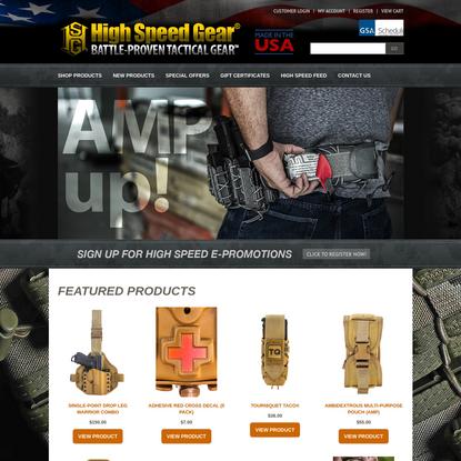 High Speed Gear, Inc. ® | Battle-Proven Tactical Gear