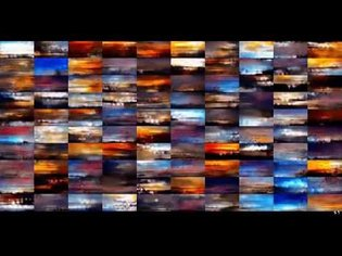 Neural net learning to generate images of skies