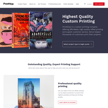 PrintNinja - Quality, Affordable Offset Printing