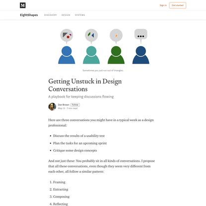 Getting Unstuck in Design Conversations