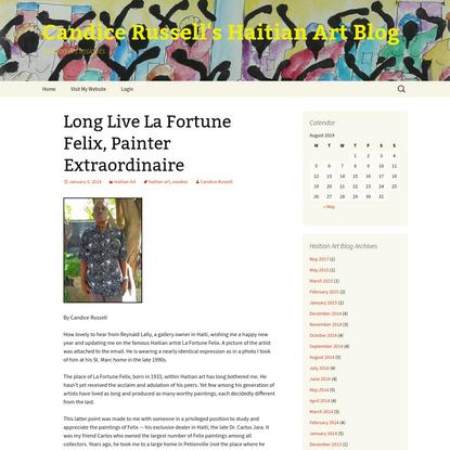 Long Live La Fortune Felix, Painter Extraordinaire | Candice Russell's Haitian Art Blog