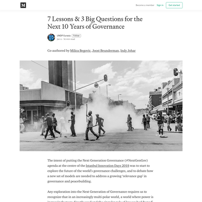 7 Lessons & 3 Big Questions for the Next 10 Years of Governance