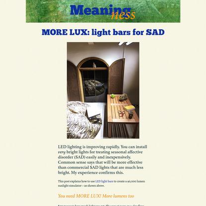 MORE LUX: light bars for SAD