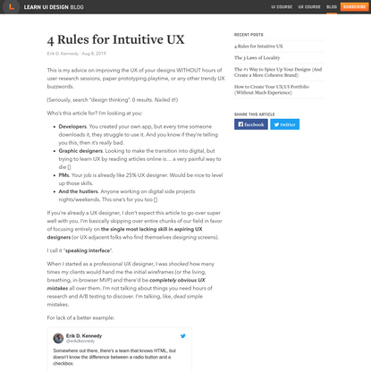 4 Rules for Intuitive UX – Learn UI Design