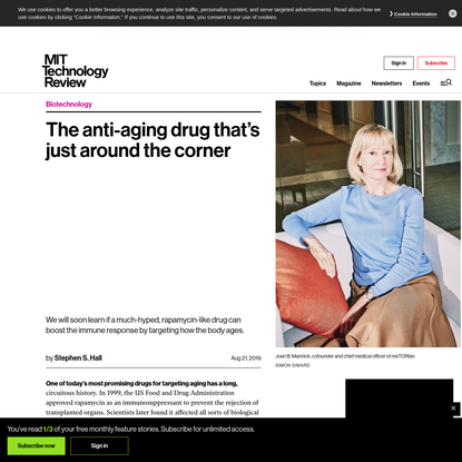 The anti-aging drug that's just around the corner - MIT Technology Review
