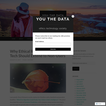 Why Ethical Responsibility For Tech Should Extend to Non-Users
