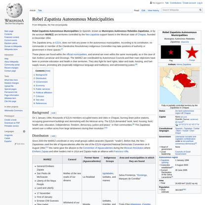 Rebel Zapatista Autonomous Municipalities