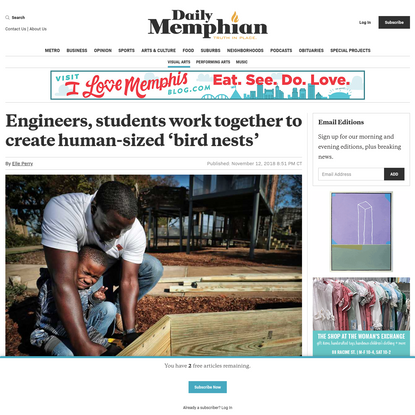 Engineers, students work together to create human-sized 'bird nests' - The Daily Memphian