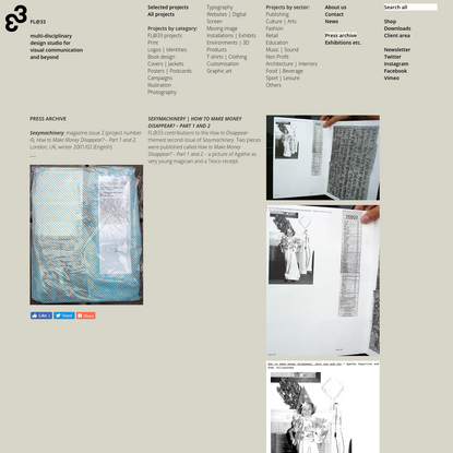 FL@33, contact@flat33.com, +44 (0)20 7168 7990   Sexymachinery, magazine issue 2 (project number 4), winter 2001/02