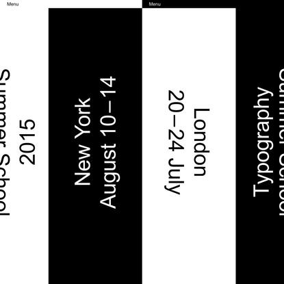 Typography Summer School 2015