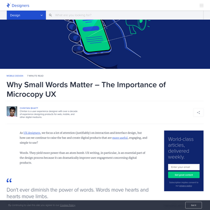 Why Small Words Matter - The Importance of Microcopy UX