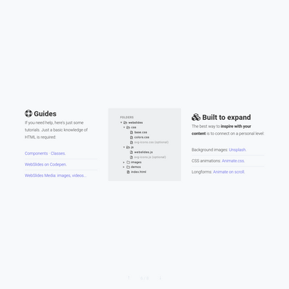 WebSlides - Making HTML Presentations Easy