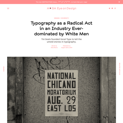 Typography as a Radical Act in an Industry Ever-dominated by White Men