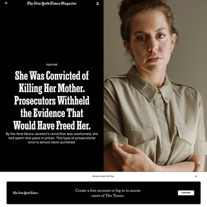 She Was Convicted of Killing Her Mother. Prosecutors Withheld the Evidence That Would Have Freed Her.