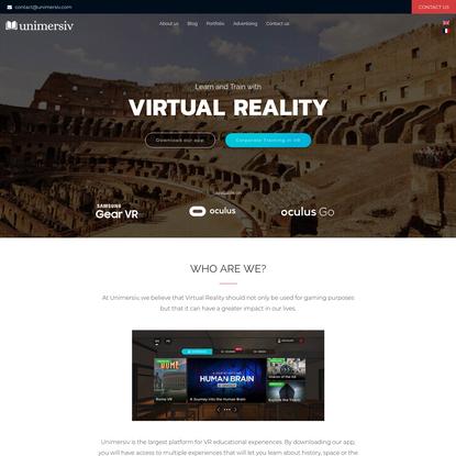 VR Training // Virtual Reality Education - Unimersiv