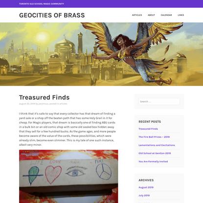 Treasured Finds – geoCities of Brass