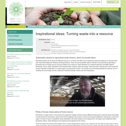 Inspirational ideas: Turning waste into a resource - EIP-AGRI - European Commission
