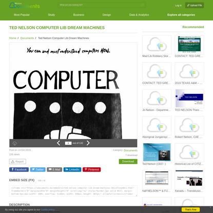 Ted Nelson Computer Lib Dream Machines - [PDF Document]