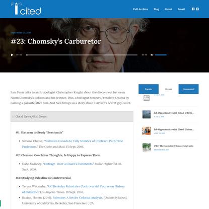 #23: Chomsky's Carburetor - Cited