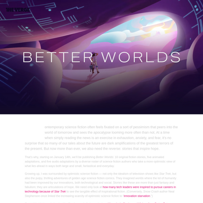 Better Worlds: a science fiction project about hope