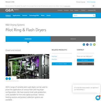 Pilot Ring & Flash Dryers