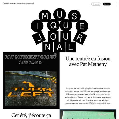 Musique Journal - Quotidien de recommandation musicale