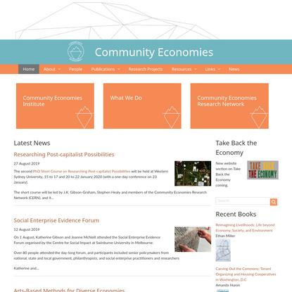 News   Community Economies