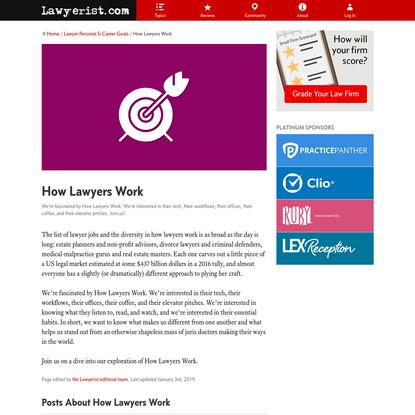 How Lawyers Work | Lawyerist