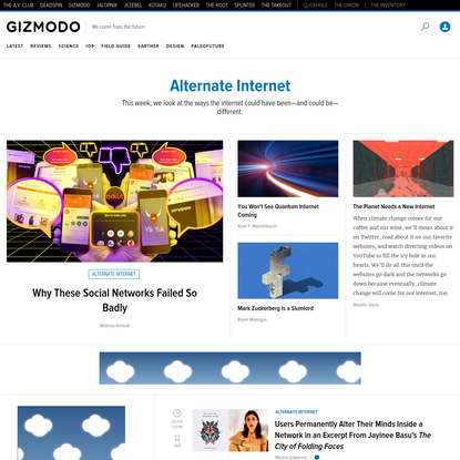 Alternate Internet - Tech and Science Tips, Reviews, News And More.   Gizmodo